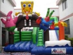 IC-648 Spongebob bouncy castle, castle bounce