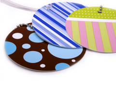 ABS Material Plastic Luggage Hang Tag