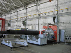 PE winding pipe production line/ plastic machinery