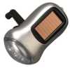 3 LED Dynamo & Solar Flashlight