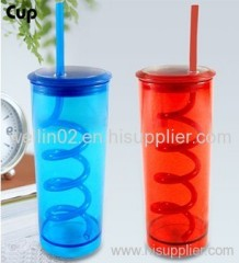 water bottle with straw