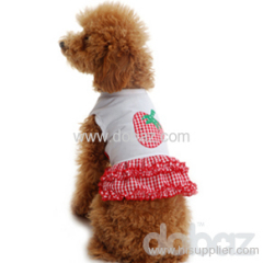 Sweet Strawberry Models http://www.hisupplier.com/product-725249-Sweet-strawberry-dog-skirt-pet-clothes-dog-apparel/