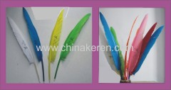 Beautiful colors health goose feather pen for advertising
