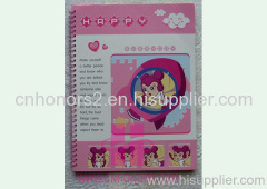 paper cover spiral notebook