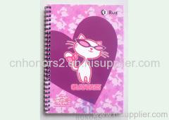 cartoon spiral notebook