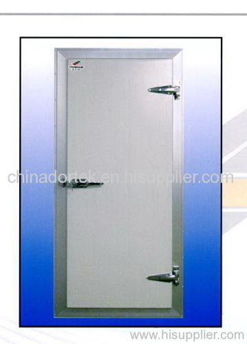 hinged freezer doors with pre-coated steel door panels