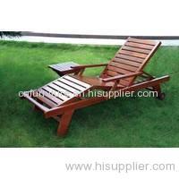 outdoor solid wooden sunbed garden sunbed
