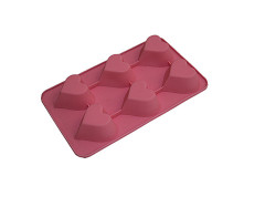Heart Shape 6 Cavities Silicone Cake Pan Baking Mold
