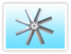 Aluminum axial flow impeller