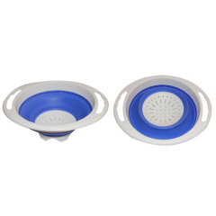 TPR Foldable Colander Round Shape Collapsible Colander