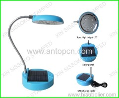 8LED solar table lamp