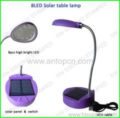 4 colors solar reading lamp