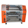 Stretching wrapper film slitter rewinder machine