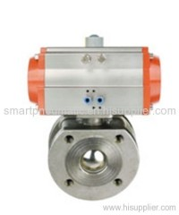 MHS Pneumatic Thin Type Ball Valve