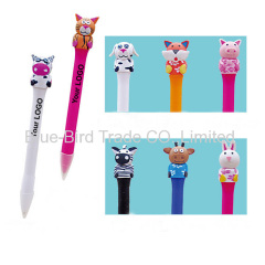 Polymer clay animal shape ballpoint pen