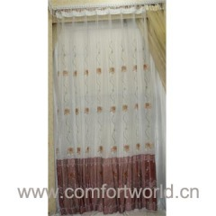 Embroidery Curtain Voile Fabric