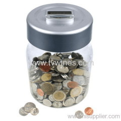Digital Coin Counting Money Jars