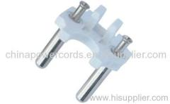 solid electrical plug insert with 4.8mm pins