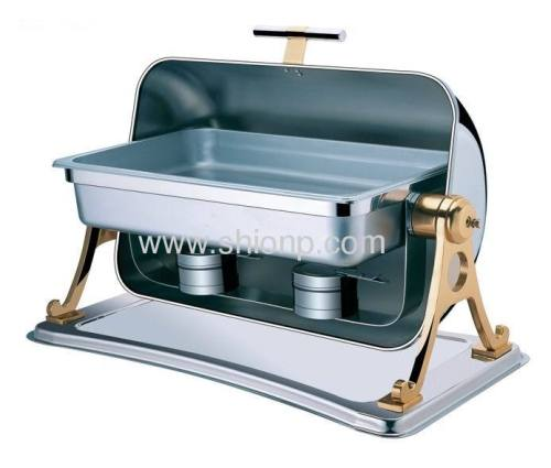 Rectangle chafing dish with golden color leg