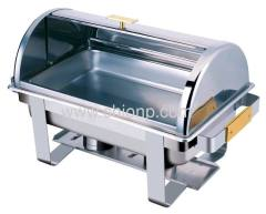 Roll top oblong chafing dish