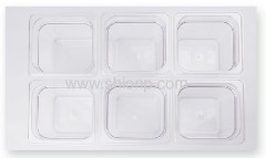 1/6polycarbonate food pan with lid w/o handle