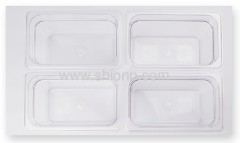 1/4 polycarbonate food pan with lid