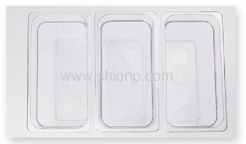 1/3 polycarbonate food pan with lid