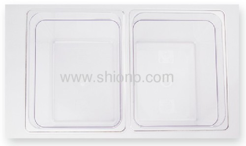 1/2 polycarbonate food pan with lid