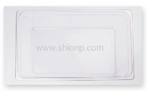 Clear polycarbonate food pan with lid