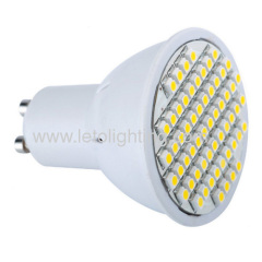 High Lumen 3.0W 60pcs GU10 3528SMD LED Cup Lamp