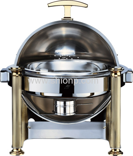 Round stack up roll top chafer