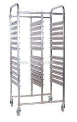 assemble s/s cart for food pans