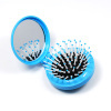 Fashion promotional porket cosmetic compact plastic mirror&brush