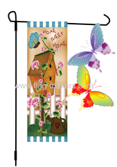 Custom Batterfly Decorative Garden Flag