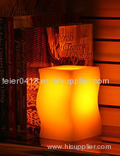 led wax real candle