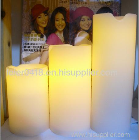 led resin candle light