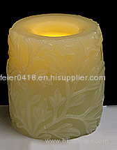 craft sparkling candle