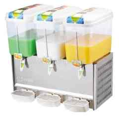 three bowls refrigerated juice dispenser