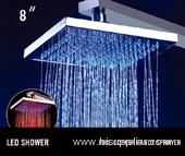 led rain shower head