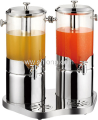 Double Juice dispenser for hotel