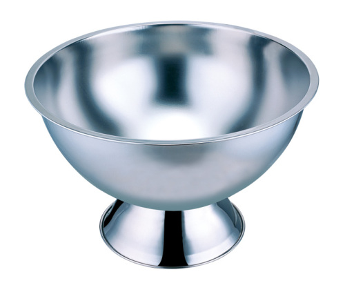 Stainless steel salad basin