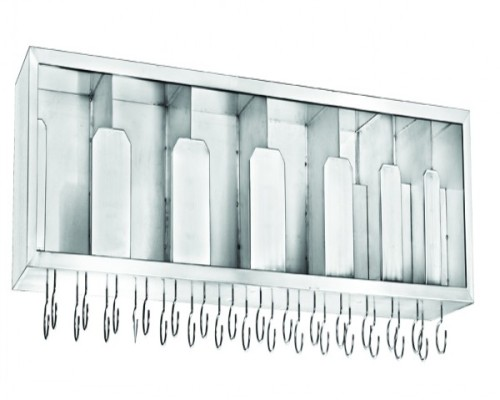 Stainless steel dish rack with cup holder