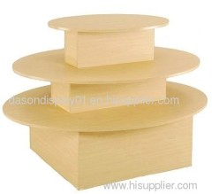 Three Tier Maple Oval Table Display