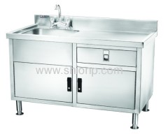 stainless steel single-basin washing desk(left-side style)