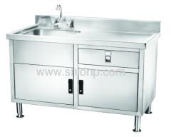 de aço inoxidável mesa de lavar-bacia única (estilo do lado esquerdo)