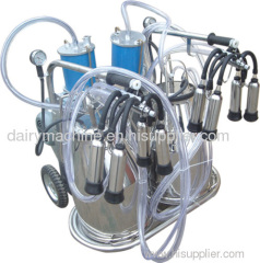 two buckets piston milking machine
