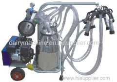 gasoline double mobile milking machine
