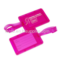 Travel Plastic pvc Luggage Tag