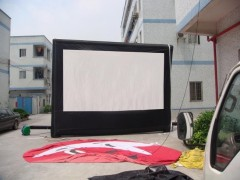 inflatable moving screen