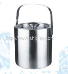portable champagne double wall ice bucket
